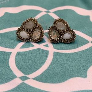 Kendra Scott Cluster Stud Earrings In Gold EUC